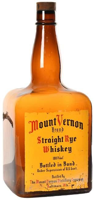 Mount Vernon Straight Rye Whiskey Display Bottle