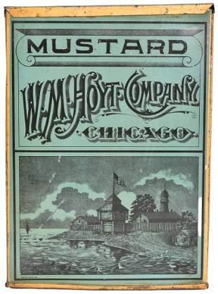 W.M. Hoyt Mustard Tin Store Bin