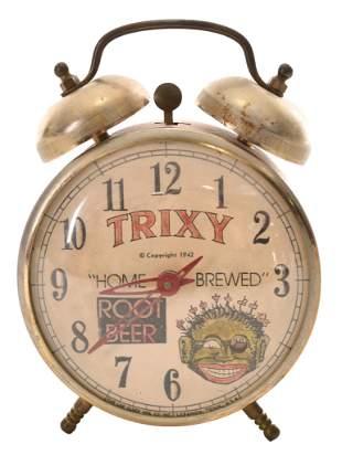 Trixy Root Beer Windup Alarm Clock