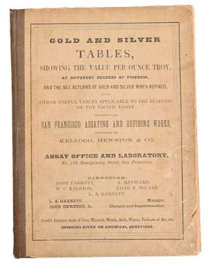 1867 Gold and Silver Tables Book
