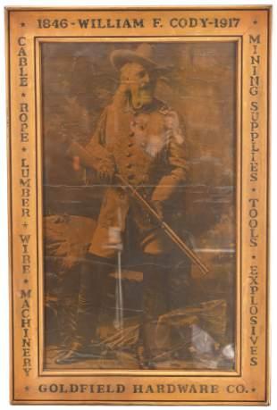 Goldfield Hardware William Cody Framed Advertisement