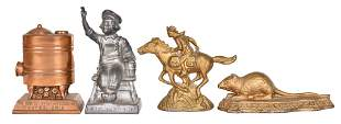 4-Small Metal Advertising Paper Weights