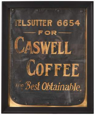 "Caswell Coffee ""The Best Obtainable"" Leather Banner"