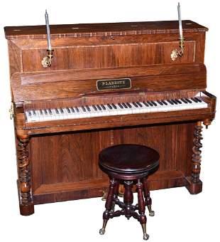 P. Larrouy Upright Piano With Stool
