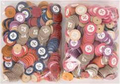 Large Box Lot of Clay Poker Chips