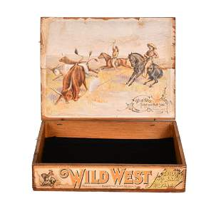Wild West Toilet and Bath Soap Wood Box