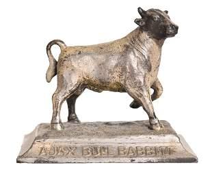 Ajax Bull Babbitt Lead Paper Weight Figure