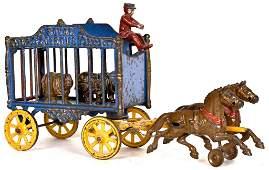 Hubley Cast Iron Royal Circus Rhino Wagon