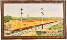 "Union Pacific Streamliner ""City of Denver"" Train Ad"