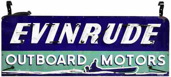 Evinrude Outboard Motors w/Great Graphics Neon Sign