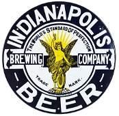 Indianapolis Beer Brewing Company w/Logo Porcelain Sign
