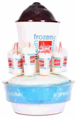 Frozen Coca-Cola Plastic Rotating Store Display