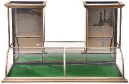 Double Tower Nickel Curved Front Counter Top Showcase