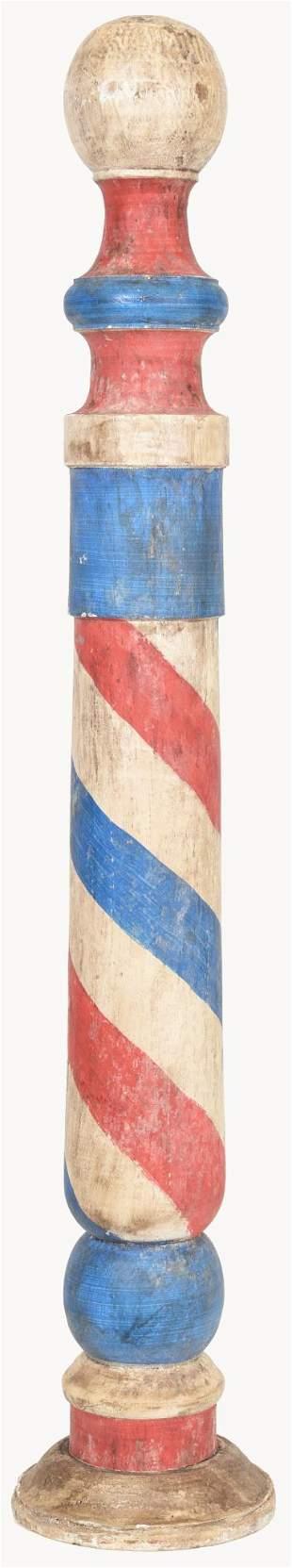 Wooden Barber Pole