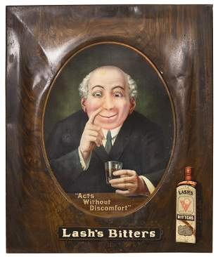 """Lash Bitters """"Acts Without Discomfort"""" Metal Sign"""
