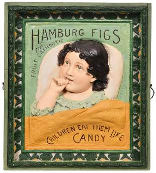"Hamburg Figs ""Children Eat Them Like Candy"" Plaster"