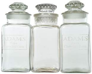 2-Adams Chewing Gun & Pomona Glass Counter-Top