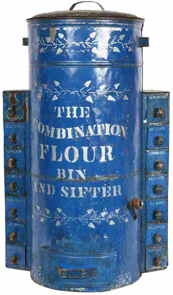 The Combination Flour Bin & Sifter w/Spice Boxes