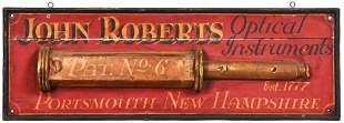 "John Roberts ""Optical Instruments"" Wood Trade Sign"