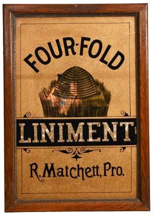 "Four-Fold Liniment ""R.Matchett, Pro."" Reverse Paint"