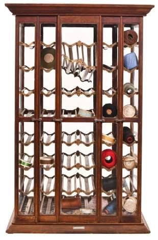 Large Floor Model Ribbon Oak Cabinet