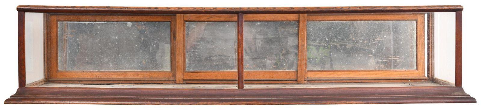 Large Countertop Oak Show Case