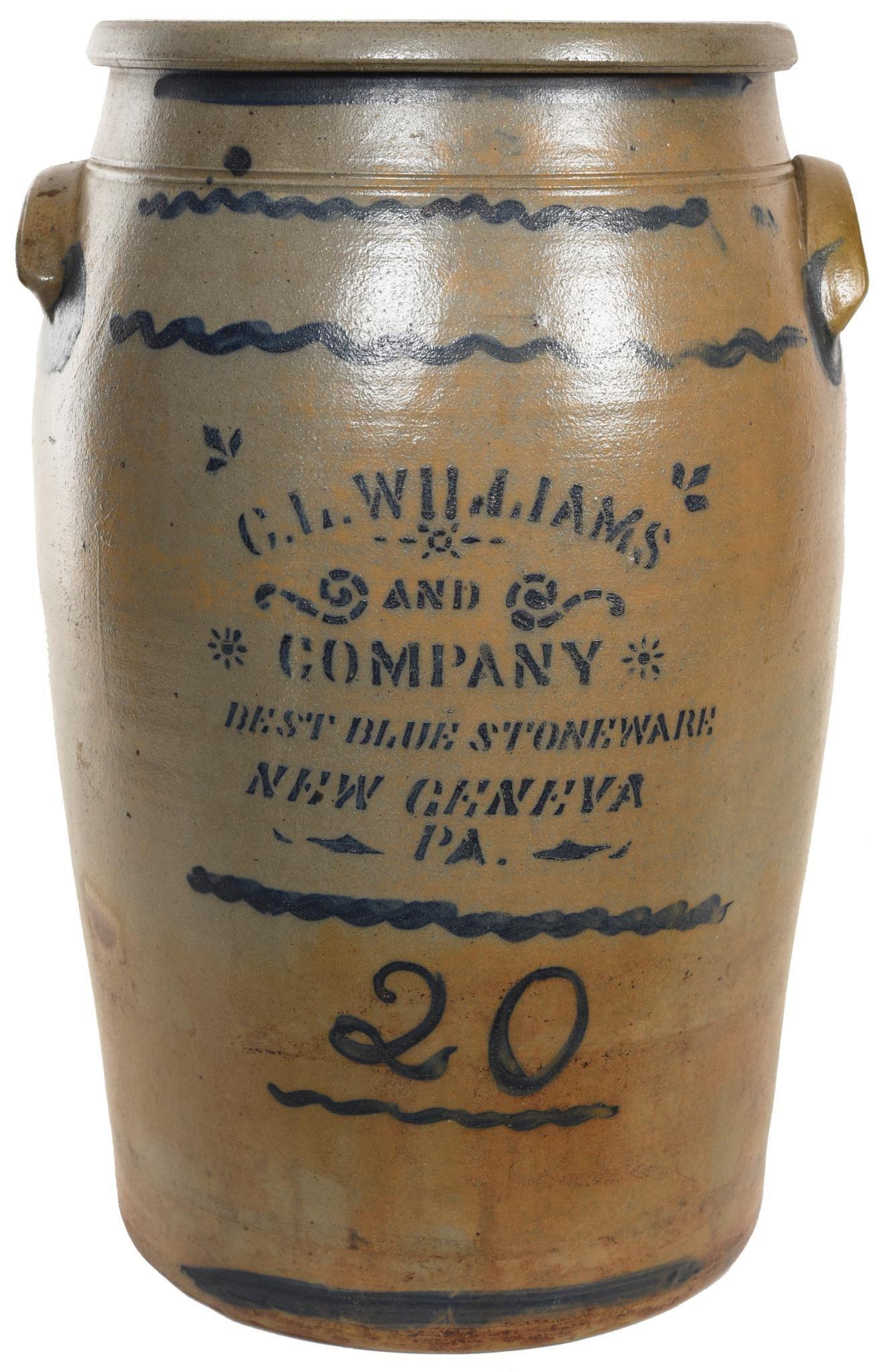 C.L. Williams & Co. New Geneva 20 Gallon Blue & Stonewa