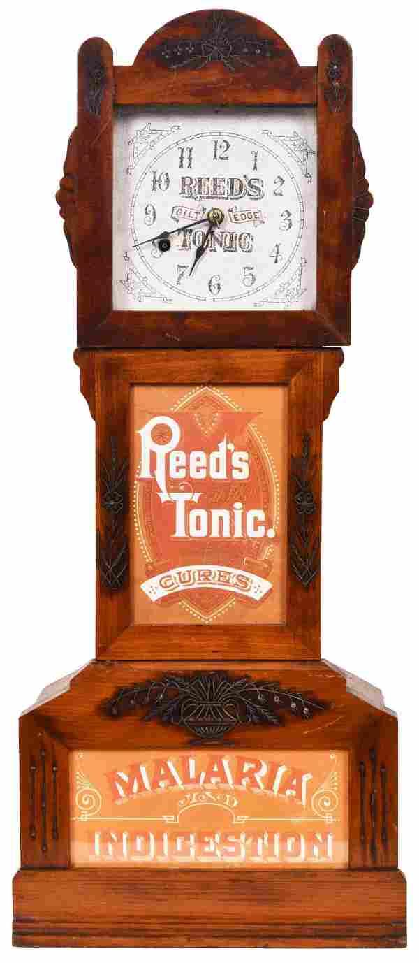 Reed's Gilt Tonic Malaria Indigestion Advertising Clock