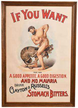 Drink Clayton & Russell's Stomach Bitters Poster