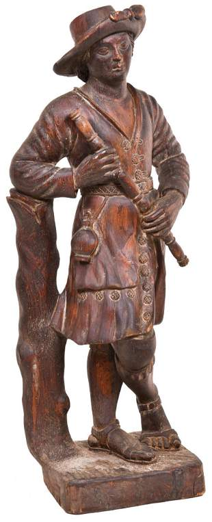 Circa 1900 Nicely Carved Male Statue