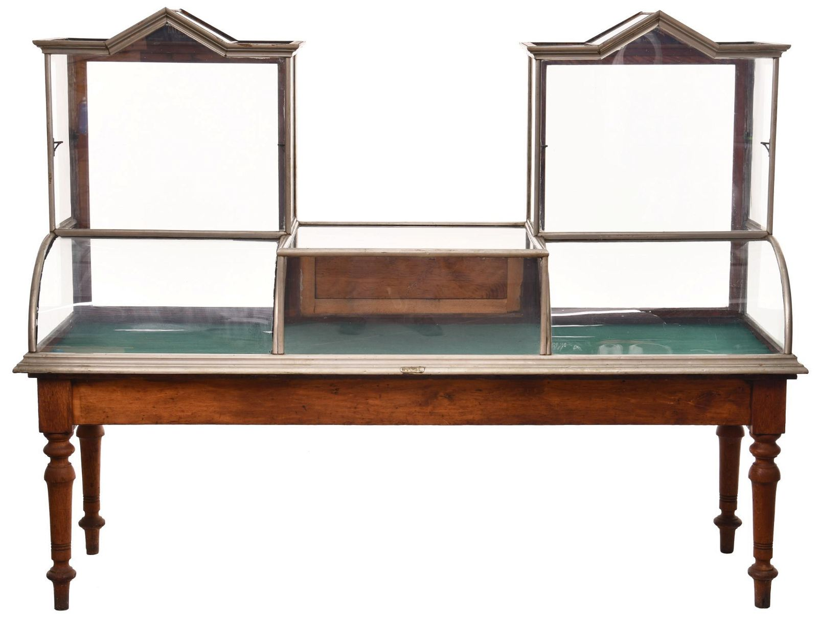 Double Cathedral Top Counter-Top Nickel Show Case