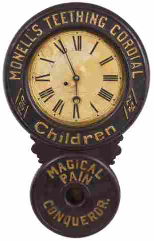 Monell's Teething Cordial for Children Baird Ad Clock