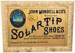 Solartip Shoes Reerse Painted Glass Sign