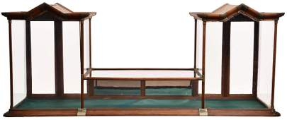 Large Double Cathedral Tower Counter-Top Showcase