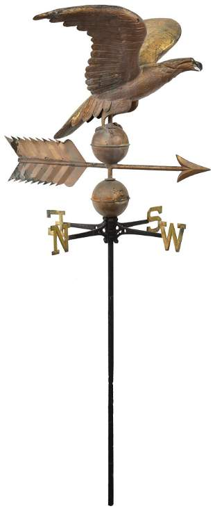 Eagle With Wings Weather Vane