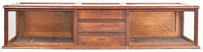 Counter-Top Oak Showcase/Cash Register