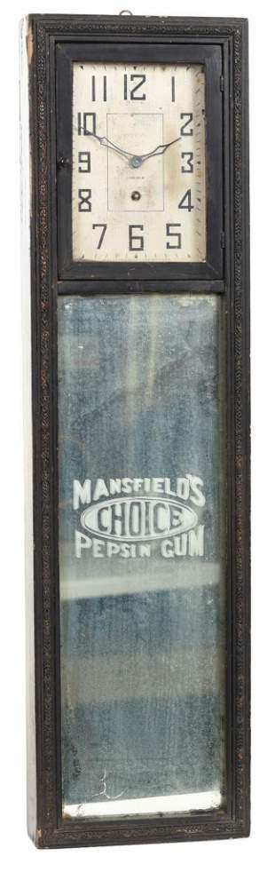Mansfield's Choice Pepsin Gum Advertising Clock