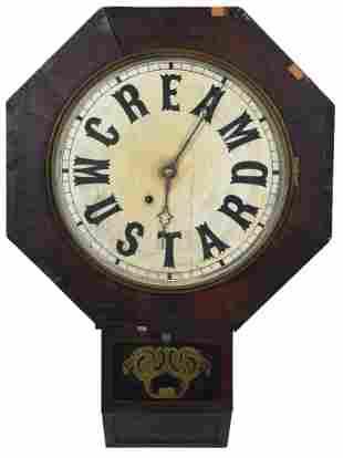 """Cream Mustard"" Ansonia Octagon Drop Box Clock"
