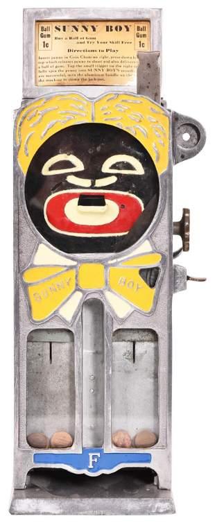 Rare 1 Cent Sunny Boy Gumball Vending Machine