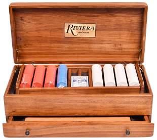 Riviera Of Las Vegas Backgammon Game