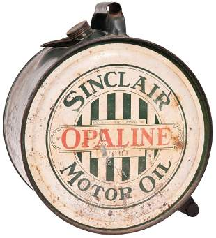 Sinclair Opaline Motor Oil Five Gallon Rocker Can