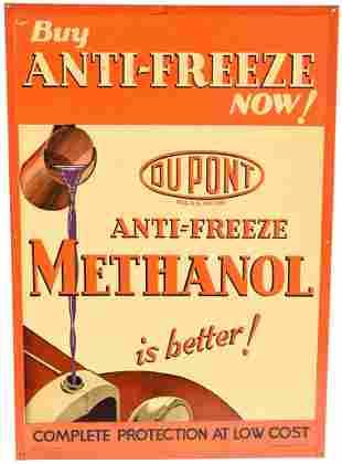 Buy Dupont Anti-Freeze Now! w/Radiator Cardboard Sign