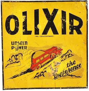 """Olixir """"Unseen Power The Difference"""" w/Car Metal Sign"""