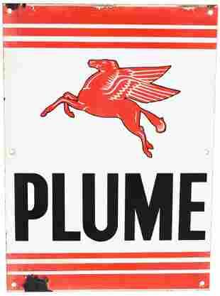 Plume w/Pegasus (Mobil) Porcelain Sign