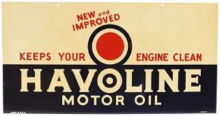 Havoline Motor Oil New & Improved Metal Sign