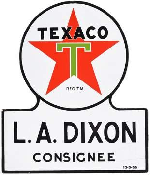Texaco (white-T) Star Logo Consignee Porcelain Sign