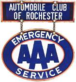 AAA Emergency Service w/Rochester Porcelain Sign
