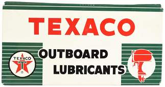 Texaco (white-T) Outboard Lubricants Metal Rack Sign