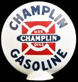 Champlin Gasoline OPE Milk Glass Globe