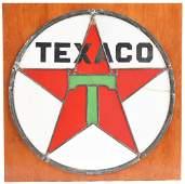 Texaco Leaded Stained-Glass Window